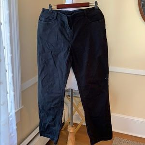 Eileen Fisher Large Black Jeans In EUC